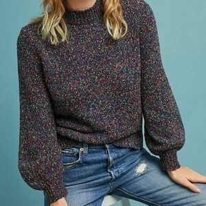 Anthro Seen Worn Kept Confetti Pullover Sweater
